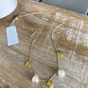 Argento Vivo Gold Disc & Pearl Necklace!